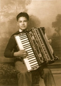 Raymond Cassinelli played accordion at the Odeon Hall in Dayton, Nev.