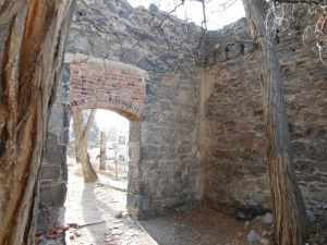 An inside glimpse of what remains of Dayton's Pony Express Station.