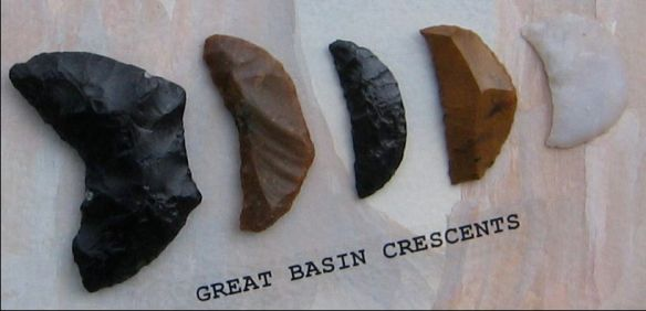 Great Basin Crescents Native American stone tools