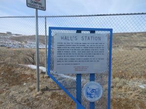 Historical marker located near Dayton's Pony Express Station.