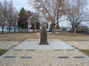 This obelisk memorial now stands in remembrance of past patients of the Nevada State Asylum who were buried disrespectfully.