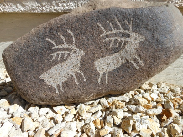 IMITATION ROCK ART FOR SALE: $40-$50, depending on size, complexity and quality of design. Local delivery within 30 miles of Carson City, Nevada, for additional $10. Small rocks also available.