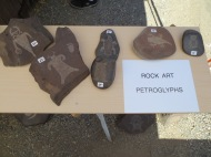 My imitation petroglyphs make perfect rock art for your yard.